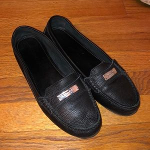 COACH FREDERICA BLACK BUTTERY LEATHER LOAFERS 9